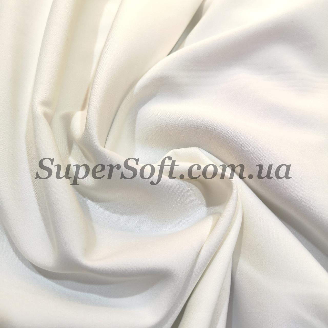 Ткань креп костюмка Барби молочная