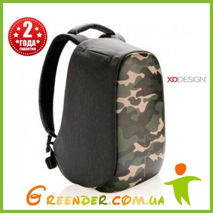Рюкзак с защитой XD Design Bobby Compact Camouflage, зеленый