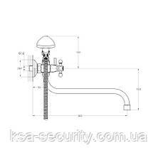 Смеситель для ванны ZEGOR LML7-A652 (Зегор) (TROYA), фото 2
