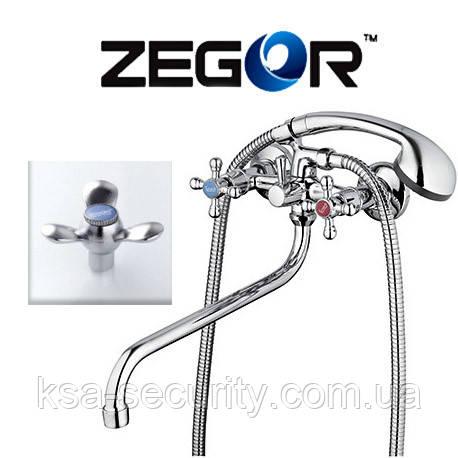 Смеситель для ванны ZEGOR LML7-A652 (Зегор) (TROYA)