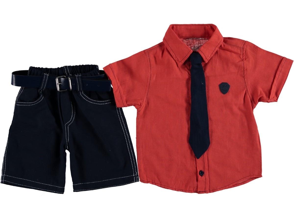 """Нарядный костюм комплект для мальчика с галстуком """"Артур"""" красный 92"""