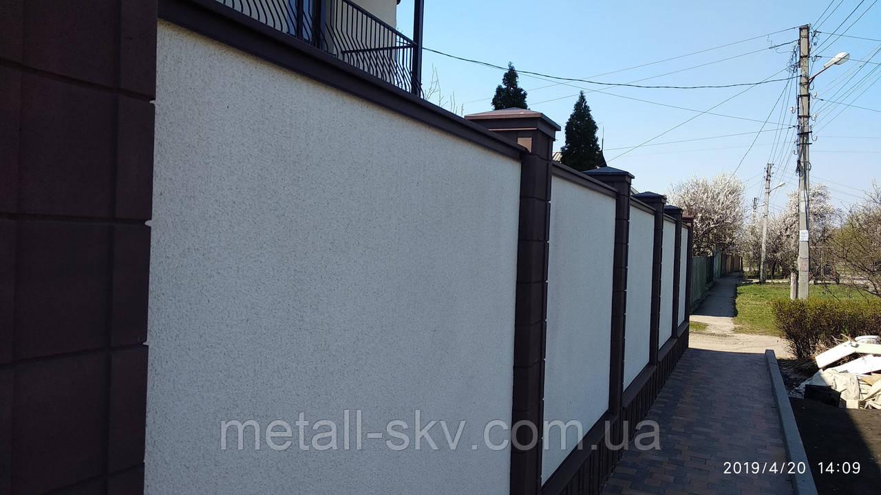 Колпаки и парапеты на забор