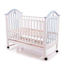 Кроватка детская Baby Care BC-440M бело-голубая