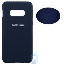 Чехол Silicone Cover Full Samsung S10E G970 синий