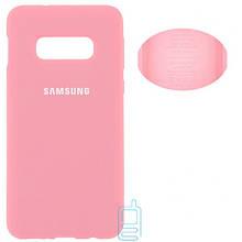Чехол Silicone Cover Full Samsung S10E G970 розовый