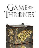 """Музыкальная шкатулка """"Game of Thrones - Игра Престолов"""" (Бразильский Орех Реверс)"""