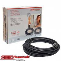 Тонкий нагревательный кабель двужильный 12 метров Hemstedt DR для укладки под плитку в плитончый клей