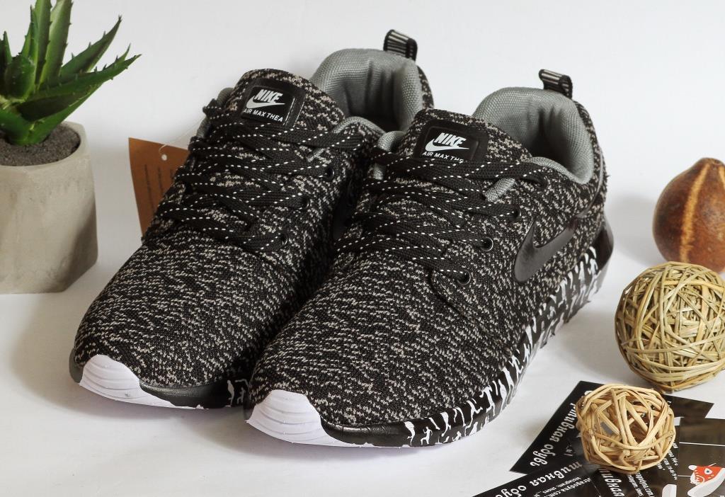 Кроссовки Nike Air Thea Беговые Черно серые
