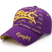 Женская кепка Bat Gaphy с надписями фиолетовая