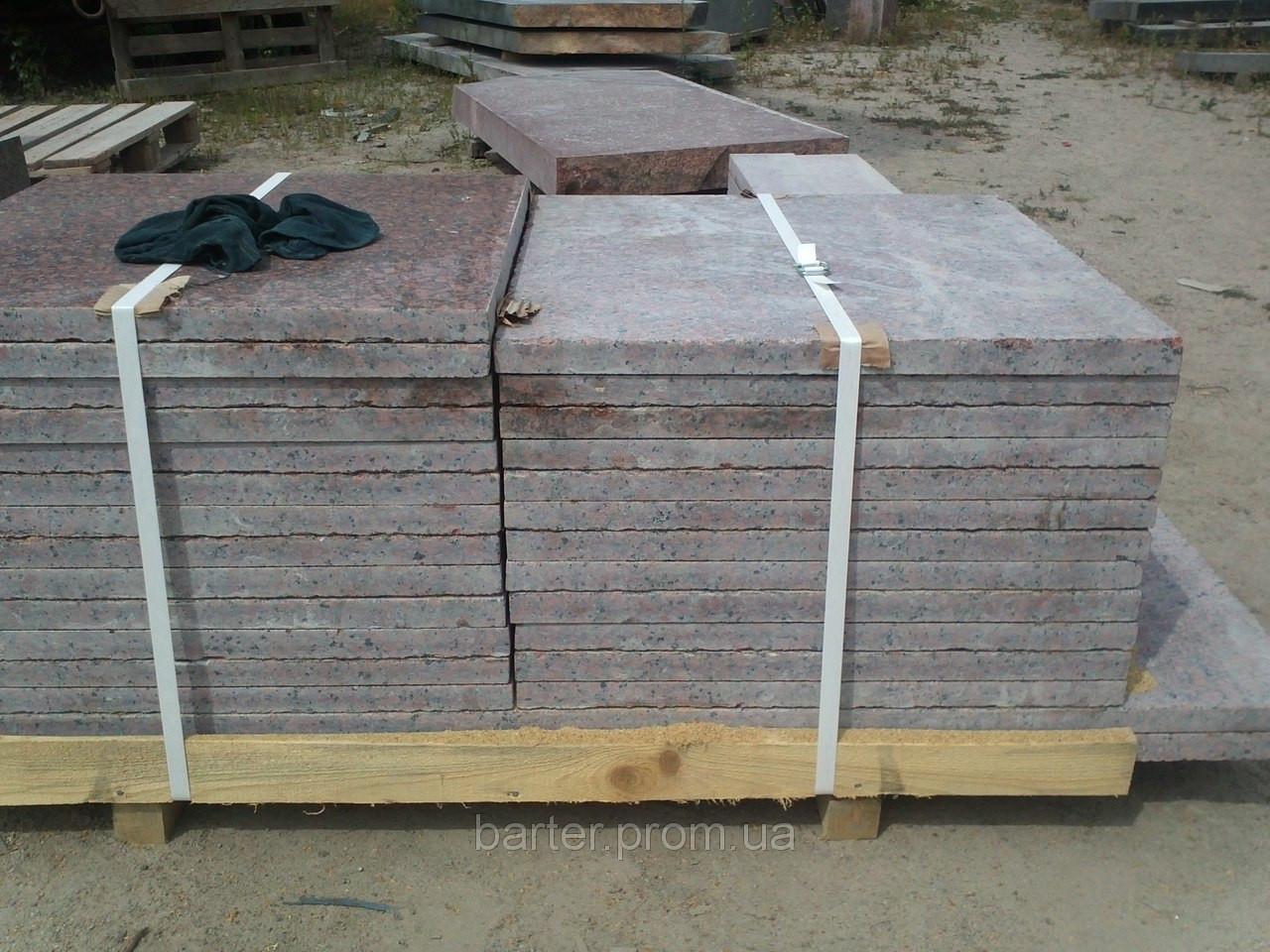 Производство плитки Симоновского  месторождения полировка 30 мм