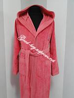 Длинный женский халат с капюшоном Ramel Турция