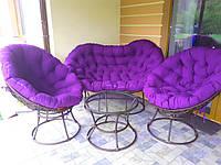 Набор Мамасан( без дополнительного плетения), кресло из ротанга, садовая мебель, мебель для балкона, лоджии, фото 1