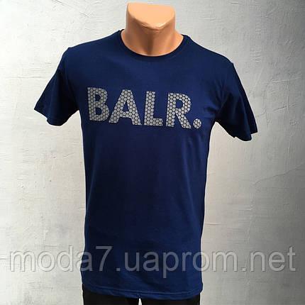 Футболка мужская синяя Турция, фото 2