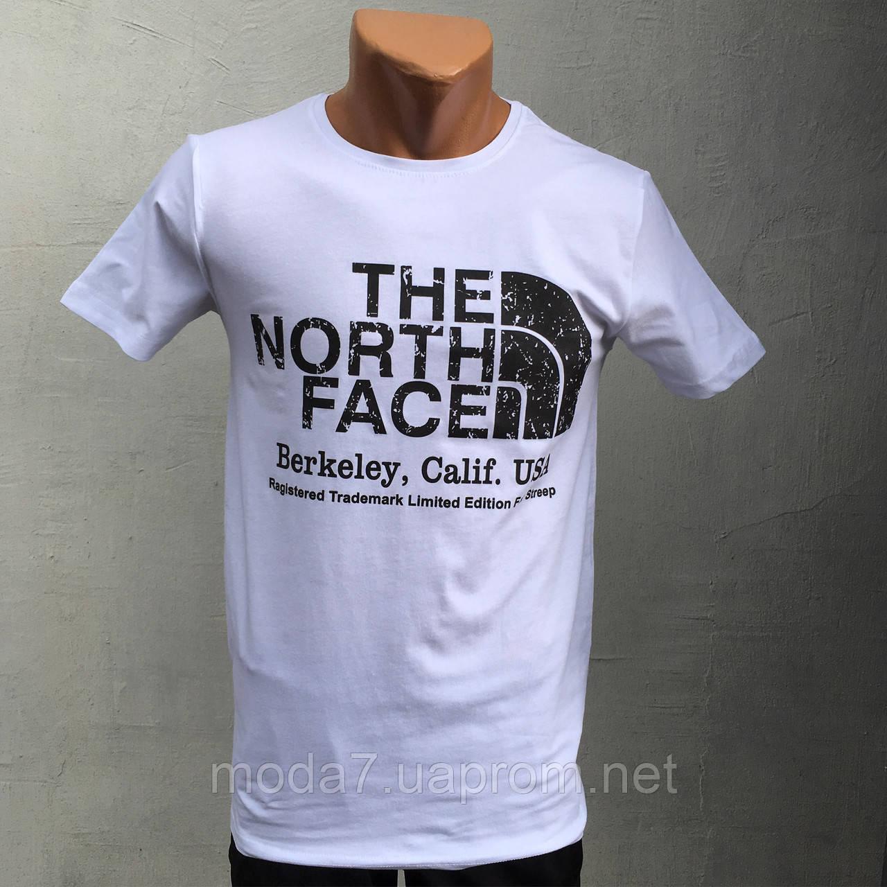 Футболка мужская белая The North Face реплика