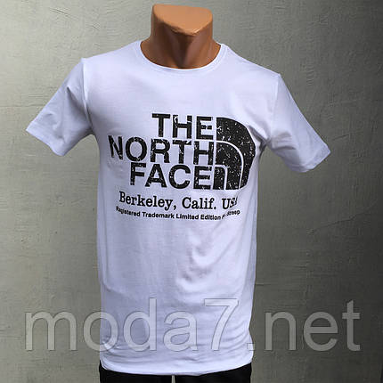 Футболка мужская белая The North Face реплика, фото 2