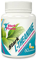 Натуральный релаксант Stark Pharm - L-Theanine 200 мг (60 капсул) (теанин, тианин)