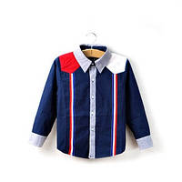 Рубашка для мальчика Armyni Китай синяя 3435
