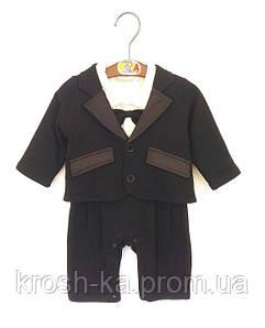 Костюм для мальчика боди Breeze Турция чёрный 5544