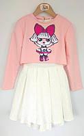 Платье +свиншот ЛОЛ детское HappyToT Украина белое 69583