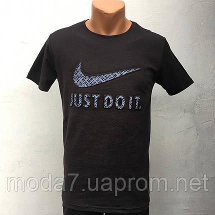 Футболка мужская синяя Nike реплика Турция, фото 2