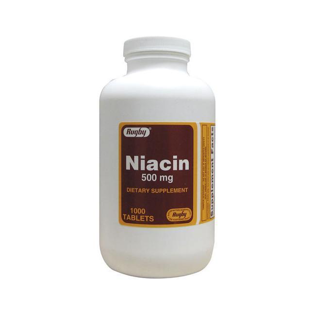 Rugby Niacin Ниацин,   ( витамин PP ,витамин B3) 500 мг 1000 таб