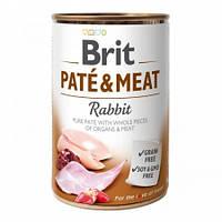 Brit Paté & Meat Dog k 400 g с кроликом