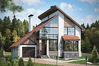 Визуализация 3D архитектуры дома и его кровли