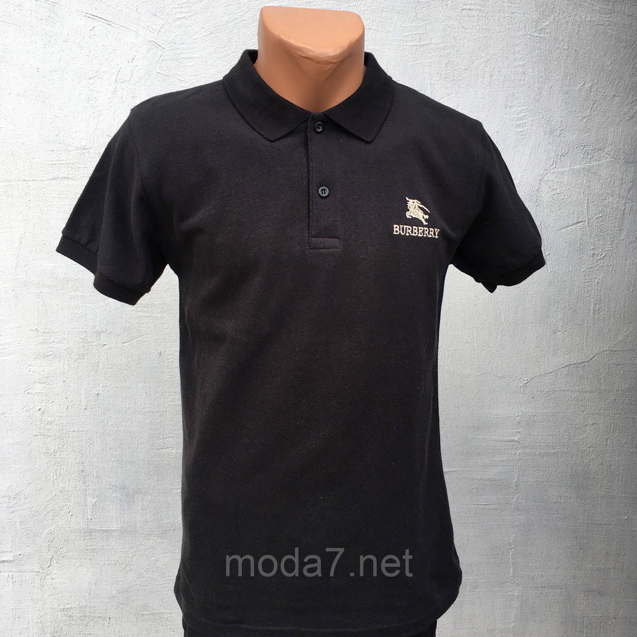 Футболка мужская черная Polo реплика