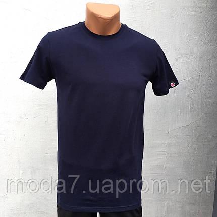 Футболка мужская синяя однотонная HR, фото 2