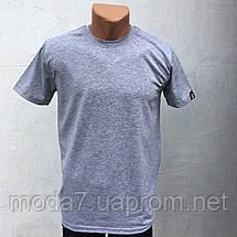Футболка мужская синяя однотонная HR, фото 3