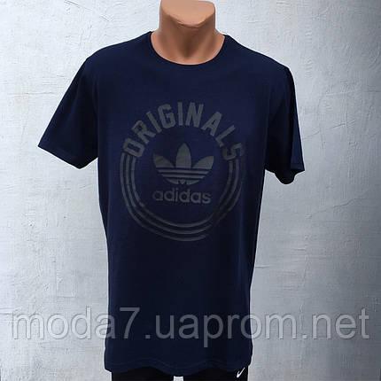 Футболка мужская черная Батал 56-62р Adidas реплика, фото 2