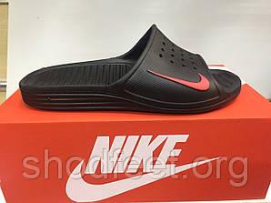 Мужские сланцы Nike Solarsoft Slide Black Red Реплика