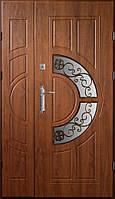 Двери входные  Эконом золотой дуб ковка 9 (Ш 1200)