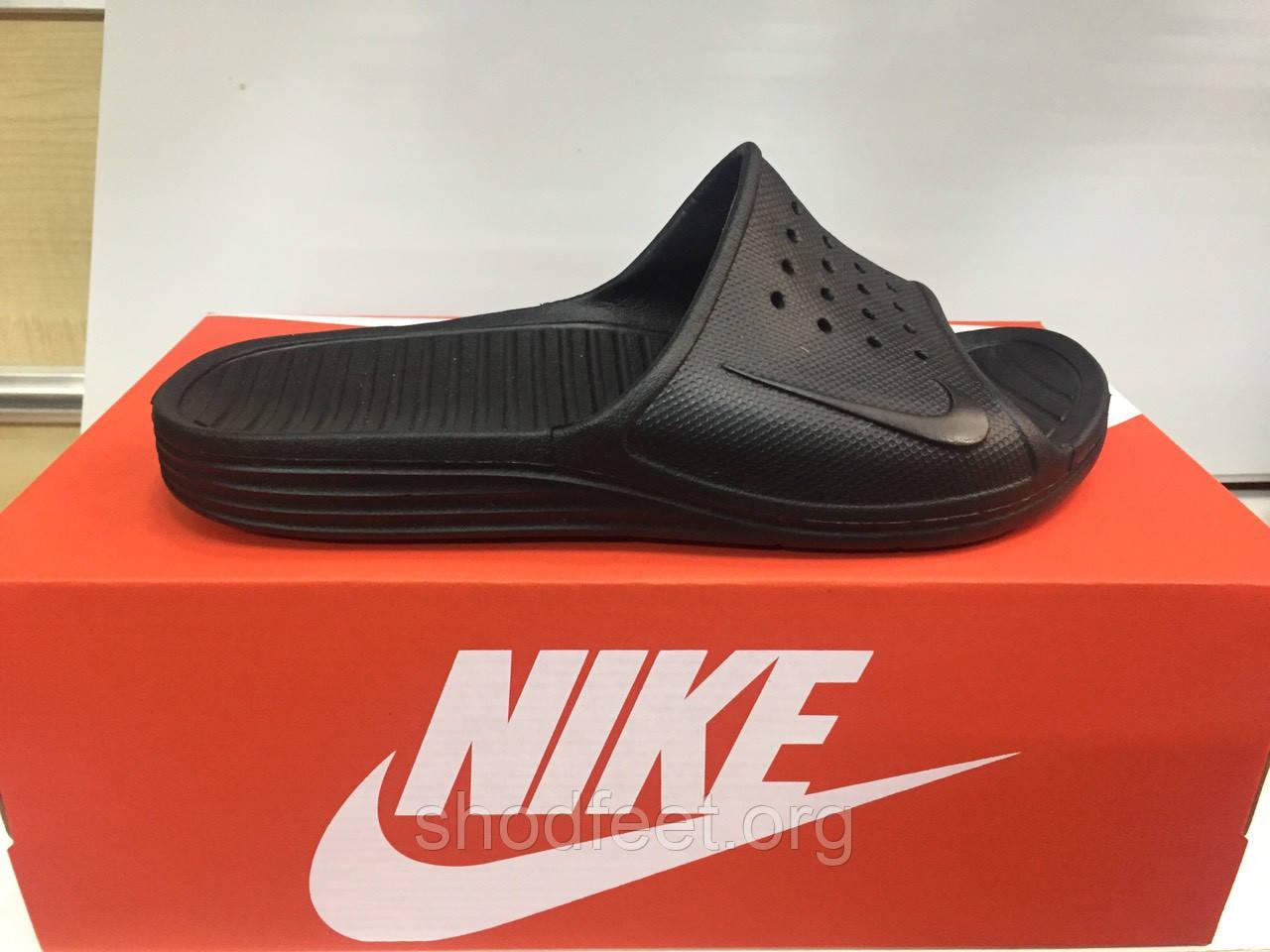 Мужские сланцы Nike Solarsoft Slide Black Реплика