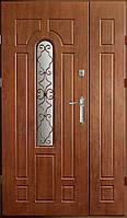 Двери входные  Вип+ золотой дуб ковка 4 (Ш 1200)