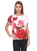 Стильная женская блуза. Блуза Цветы