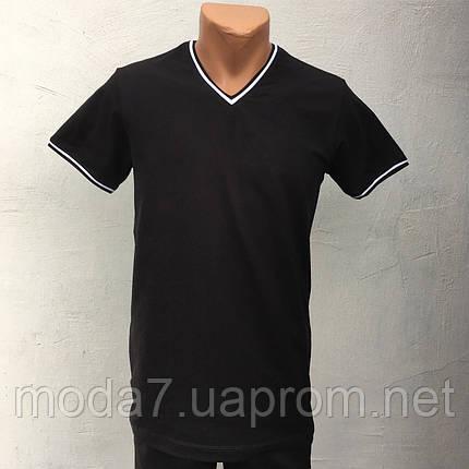 Футболка мужская черная однотонная VM, фото 2