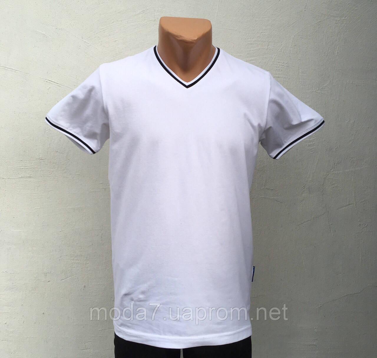 Футболка мужская белая однотонная VM