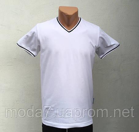 Футболка мужская белая однотонная VM, фото 2