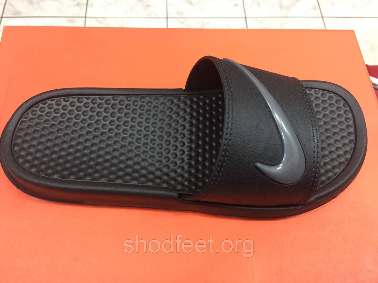 Шлепанцы Nike Benassi JDI SE Black Grey Реплика