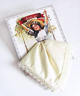 """Подарочный носовой платок """"Выше нос!"""" айвори"""