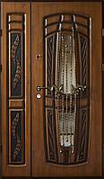 Двери входные Вип+ дуб золотой патинированый 907 (Ш 1200)