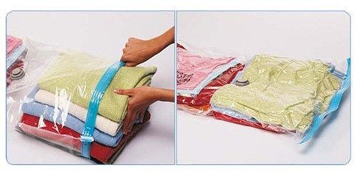 Вакуумный пакет для упаковки вещей Vacuum Bag, 70*100 см, с клапаном, прозрачный