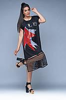 Платье женское батал  Ангелина, фото 1
