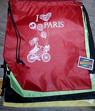 Сумка для обуви 40х34 см, нейлон / I Love PARIS