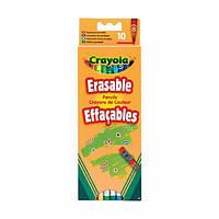 10 цветных карандашей Crayola с ластиками (5010065036352)