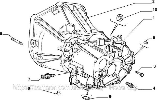 Включатель фонарей заднего хода Fiat Doblo 1,9JTD Multijet