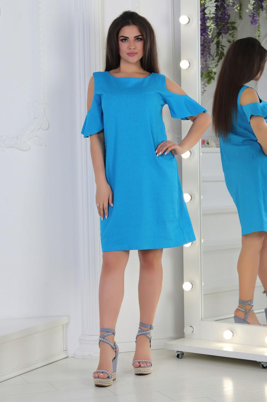 Платье Лен Крылышки 04031