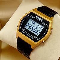 53aa4782 Легендарные мужские кварцевые (электронные) наручные часы Skmei 1328 Old  School Design, золото с