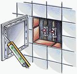 Ревизионная дверца Д 200*200 пластик АВС Вентс зеленый мрамор, фото 3